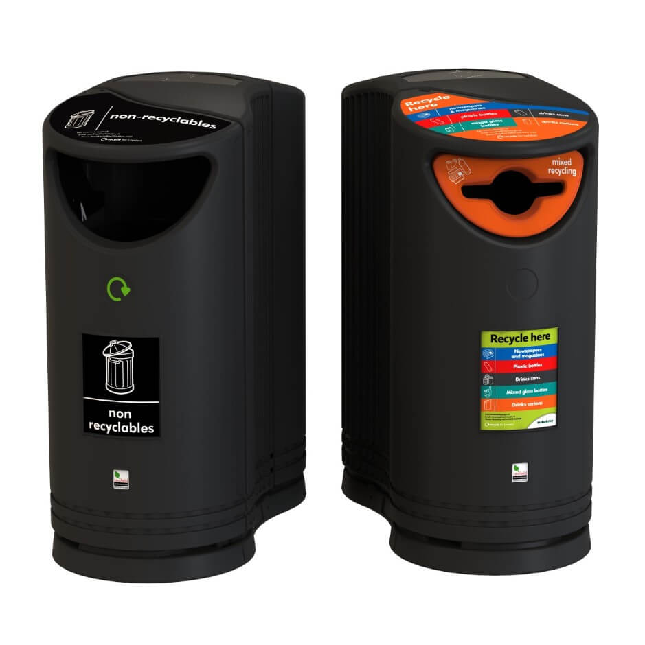 Twin Bin Group Black